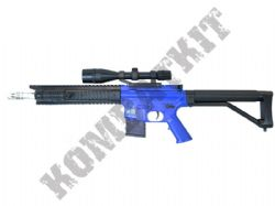 P137 M4 Assault Rifle Style Airsoft BB Gun Black and Blue